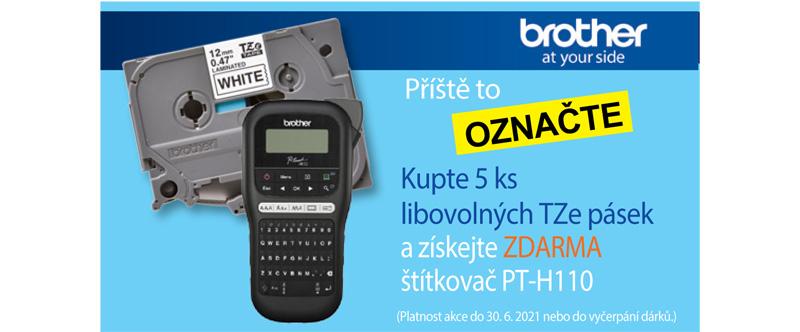 Štítkovač Brother PT-H110 zdarma